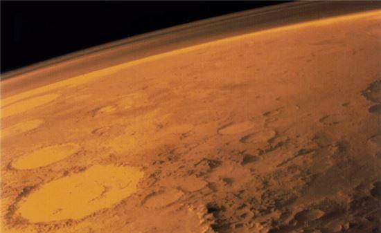 ▲'붉은 행성' 회성의 대기층.[사진제공=NASA]