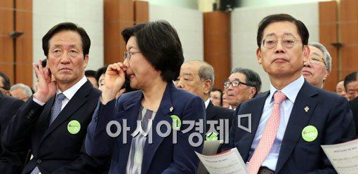 [포토]한자리에 모인 새누리당 서울시장 후보들