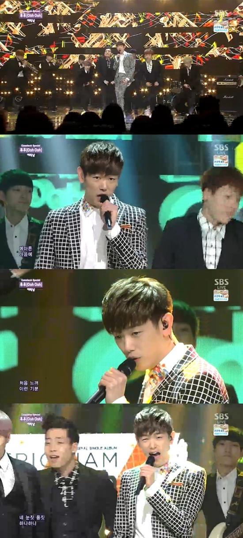 SBS 인기가요 '에릭남' 방송 캡처