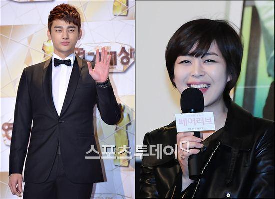 tvN '고교처세왕'의 주연배우 서인국·이하나.