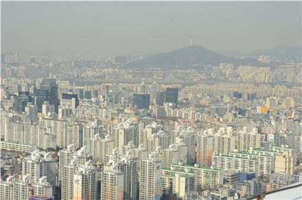 서울의 아파트 단지 전경