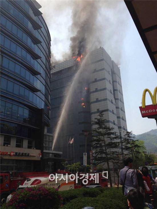 삼성SDS 과천ICT센터에서 20일 화재가 발생했다.