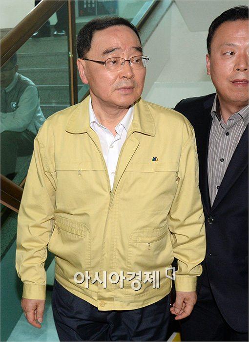 [포토]지친 모습의 정홍원 총리