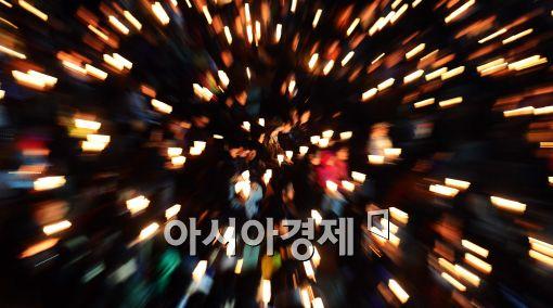 [포토]촛불의 힘으로....세월호 실종자 무사귀환