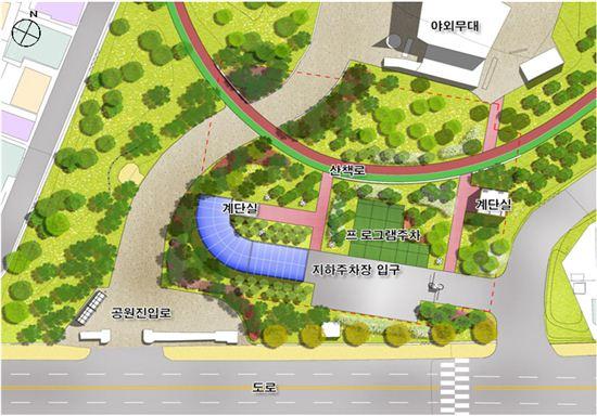 고척근린공원 지하추차장 계획도