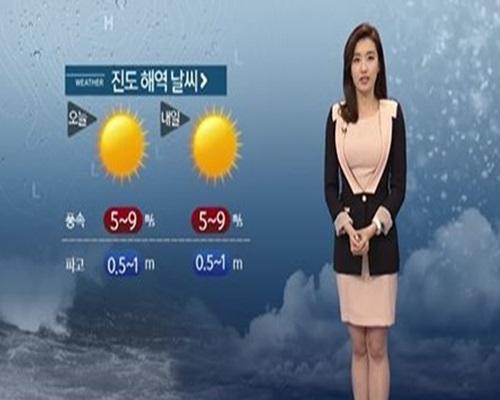 ▲세월호 침몰 진도 해역 소조기.(사진: YTN 기상 예보 캡처)