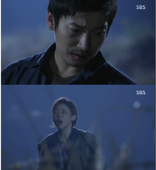 ▲4월22일 방영된 신의선물-14일 조승우의 마지막 애절한 연기(출처:SBS 월화드라마 '신의 선물- 14일' 화면 촬영
