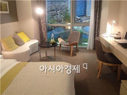 한 분양형 호텔 견본주택 유닛