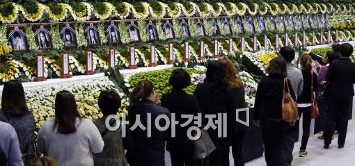 [포토]헌화하는 조문객들