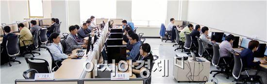 광주U대회는 대회운영통합시스템'테스트 랩'개소를 하고 본격적으로 테스트에 들어갔다.