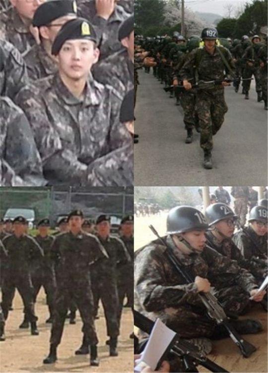 ▲강동호의 신병교육대 훈련 모습. (사진: 토비스미디어)