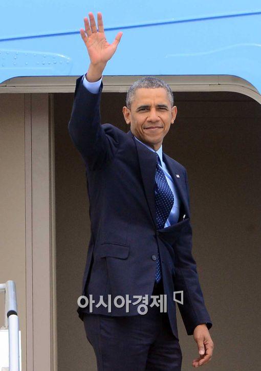 [포토]오바마 미 대통령, '굿바이 대한민국'