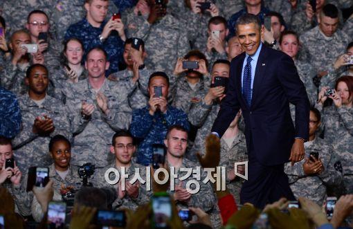 [포토]용산 미군기지 찾은 버락 오바마