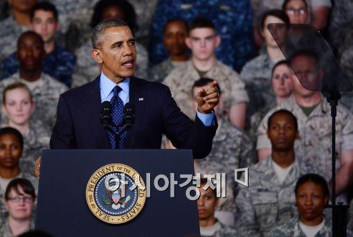 [포토]버락 오바마 美 대통령, 용산 미군기지에서 연설