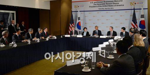 [포토]버락 오바마, 재계 총수들과의 만남