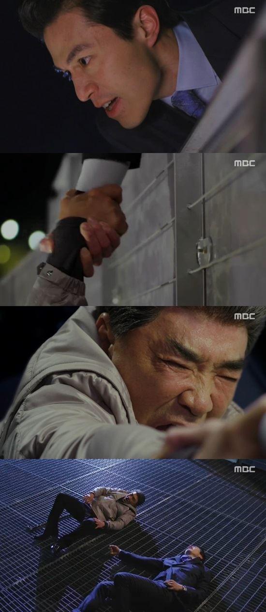 배우 이덕화가 26일 오후 방송한 MBC '호텔킹'에서 아버지로서 부끄럽지 않기 위해 자살을 시도했다. /사진은 방송 캡처.