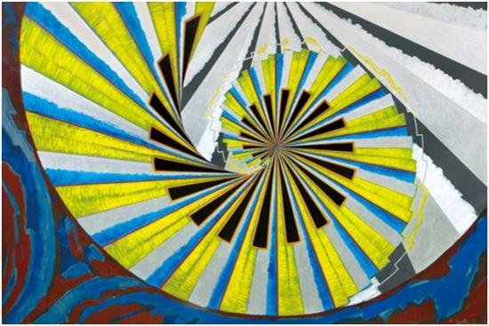 한묵, 공간, 캔버스에 유채, 200×300cm, 1989, 시작가 5,500만원, 추정가 1억5,000만-2억원