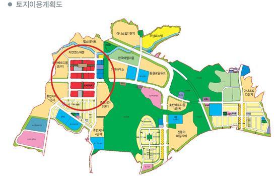 용인흥덕지구 토지이용계획도