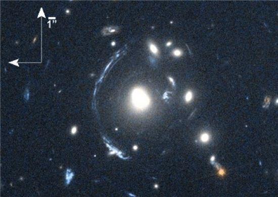▲유럽우주국의 '허셜 망원경'이 S0901이라는 젊은 은하를 발견해 관심을 모으고 있다.[사진제공=NASA/STScI; S. Allam, L. Moustakas, K. Stewart]
