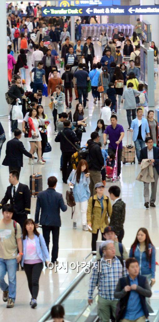 [포토]해외로 출국하는 시민들