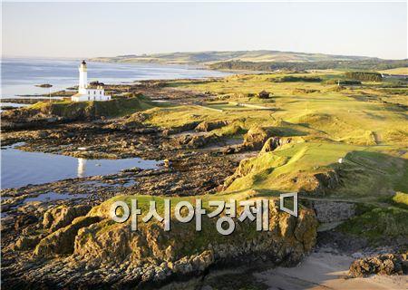 스코틀랜드 턴베리리조트 앨리사코스 9번홀(파4) 전경. 사진=Getty images/멀티비츠