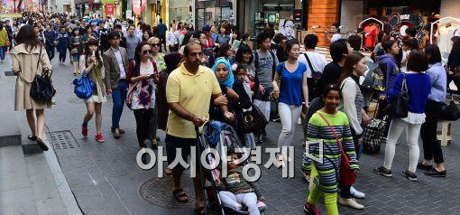 [포토]외국인들로 붐비는 명동