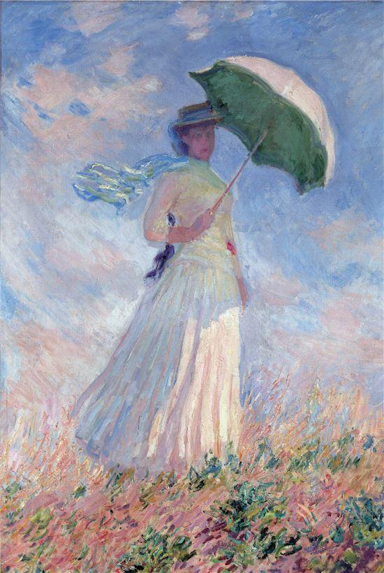 모네, 양산을 쓴 여인.