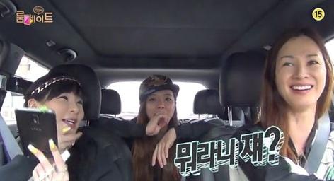 ▲이소라가 방송 중 신동엽의 언급에 댕황했다. (출처: SBS 룸메이트 방송화면 캡처)