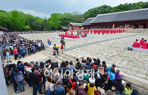 [포토]조선 역대 왕과 왕비를 위한 제사 '종묘제례'