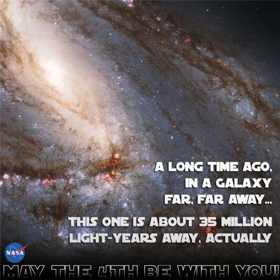 ▲3500만광년 떨어진 M66 은하.[사진제공=NASA]