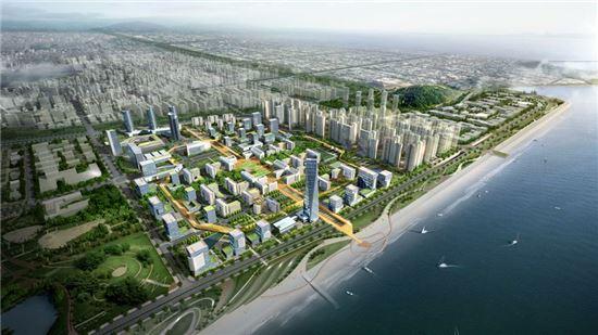 서울대, 서울대병원 등이 들어설 배곧신도시 특별계획구역 조감도.