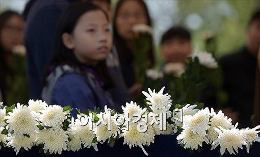 [포토]세월호 희생자 분향소 찾은 아이들