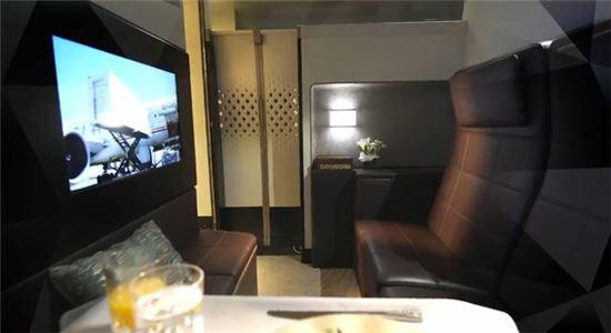 에티하드항공의 새로운 A380 일등석 좌석.