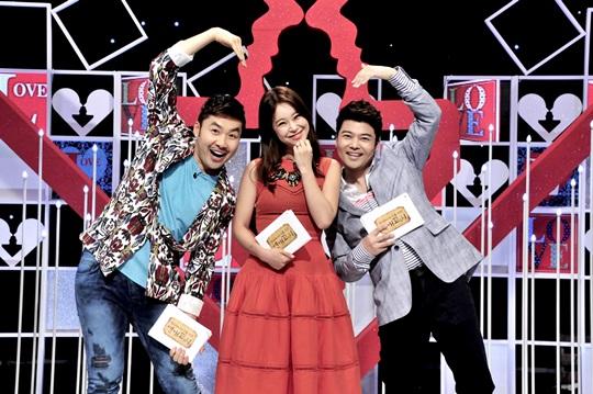 MBC 새 파일럿 예능프로그램 '연애고시'의 진행을 맡은 노홍철, 백지영, 전현무(왼쪽부터)
