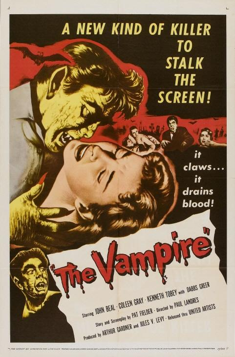 ▲젊은 피 수혈이 '회춘의 열쇠'가 될 수 있다는 연구결과가 발표됐다. (사진: 영화 '뱀파이어'(1957) 포스터)