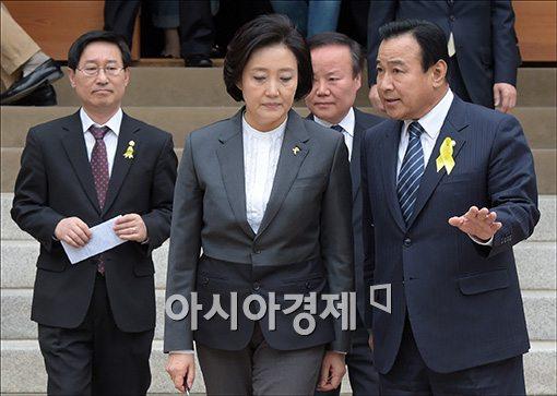 [포토]의견 나누는 박영선·이완구