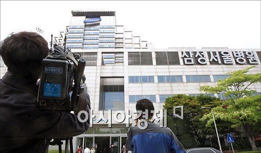 [포토]취재진 몰린 삼성병원