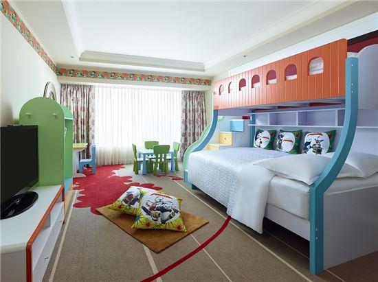 ▲ 쉐라톤 마카오 호텔, '쿵푸판다' 콘셉트의 패밀리 스위트룸