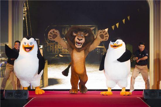 ▲ 쉐라톤 마카오 호텔 '드림웍스 익스피리언스 패키지'에서 제공하는 캐릭터 무대