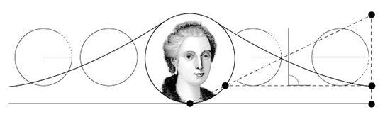 ▲마리아아녜시 탄생 296주년 기념 구글 로고 디자인 (사진: 구글 메인화면 캡처)