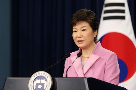 1월 6일 기자회견을 열고 2014년 신년 구상을 밝히고 있는 박근혜 대통령 (사진 : 청와대)