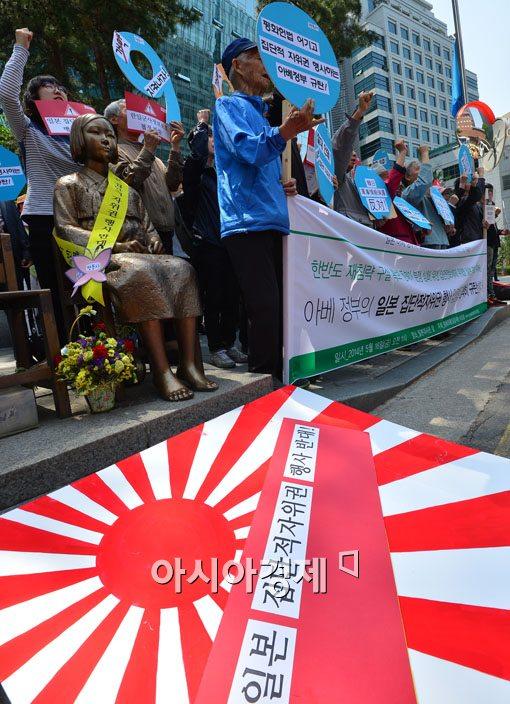 [포토]일본의 집단적 자위권 행사 반대