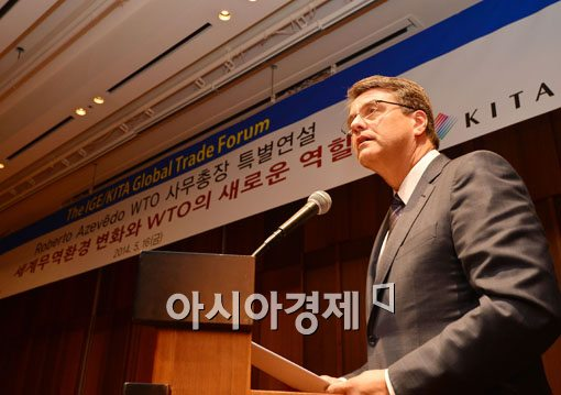 [포토]호베르토 아베제도가 말하는 WTO의 새로운 역할