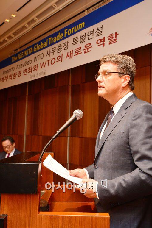 [포토]WTO 사무총장 '쌀 관세화 예측 어려워'