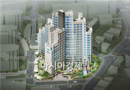 한라가 동신3차 아파트를 재건축한 '도곡 한라비발디' 조감도