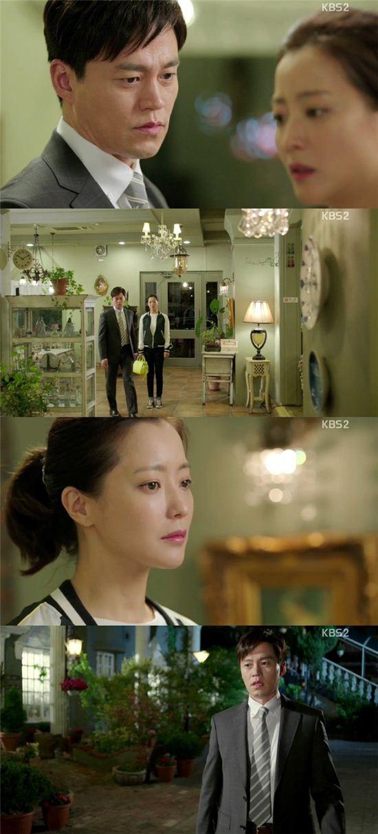 배우 이서진과 김희선이 KBS2 '참 좋은 시절'에서 가슴 아픈 이별을 맞았다. / 사진은 해당 방송 캡처.