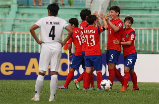 ▲ 여자 축구대표팀 (사진:아시아축구연맹(AFC))