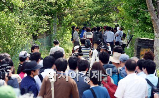 [포토]취재진들이 몰려든 금수원