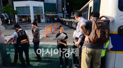 [포토]막아서는 경찰들