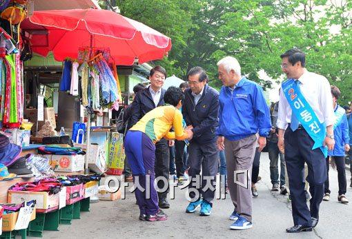 [포토]6.4 지방선거운동 첫 주말, 이른 아침부터 선거운동